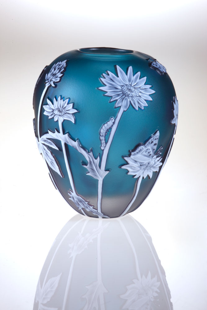Miniatures - Blue Daisy Vase