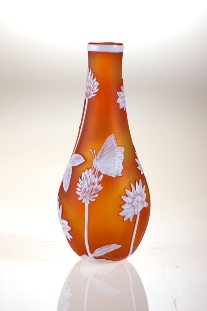 Miniatures - Gold Daisy Vase