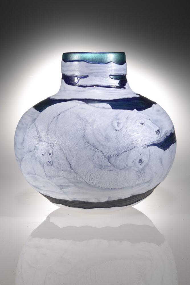 Polar Bear Vase