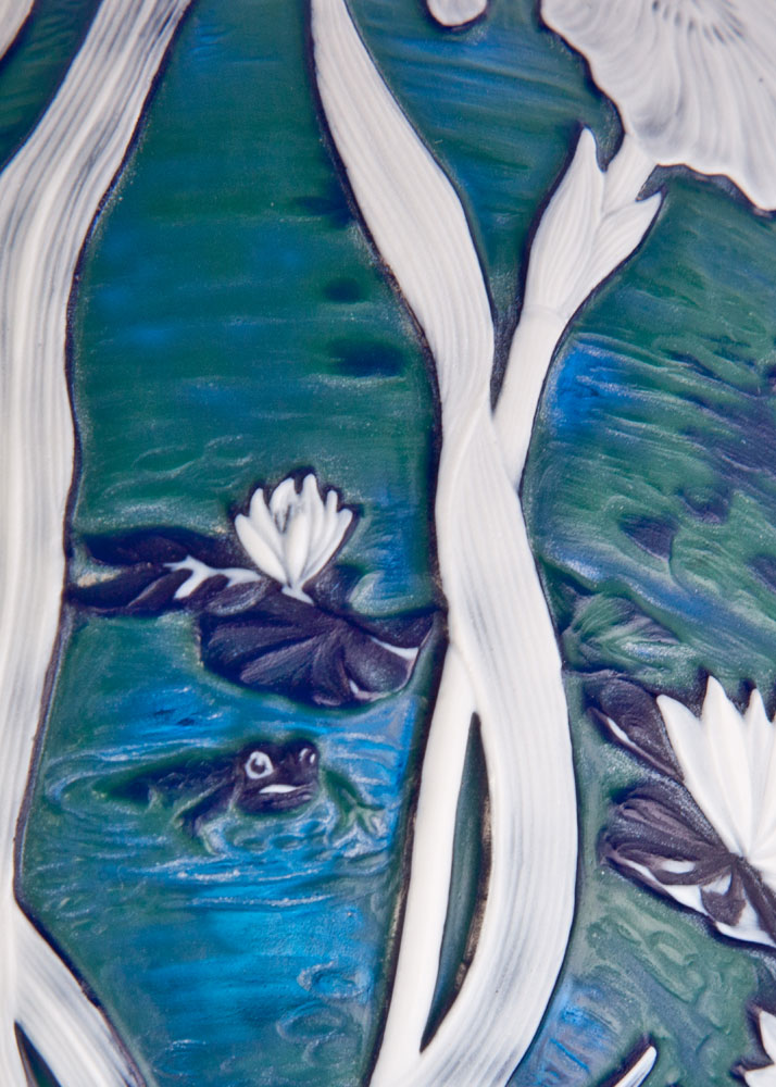 Swan Riverbank Vase